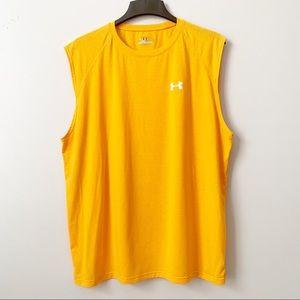 Under Armour Heatgear Yellow Sleeveless Shirt